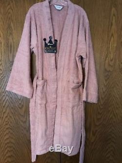 ROYAL VELVET Terry Cloth Bathrobe Spa Wrap Blush Rose Women's One Size USA NEW