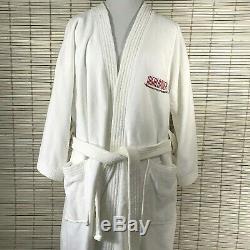 Rare Men's Highlander Series One Size White Logo Belted Bath Robe Authentic