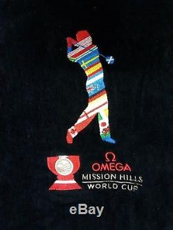 Rare Omega Mission Hills World Cup Men's Bathrobe Size S