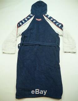 Rare Vintage KAPPA Bath Sleeping Night Towel Robe Bathrobe 90s 2000s Navy Blue L