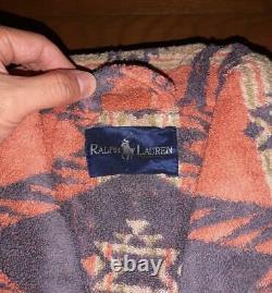 Rare Vintage Ralph Lauren Native Print Bathrobe 90s