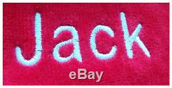 Red Color Terry Cloth Hooded Cotton Bathrobe For Women & Men, Personalized Robes