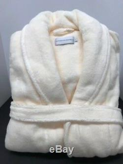 Restoration Hardware Size L Ivory LONG 100% Hydro -Cotton Bath Spa Robe unisex
