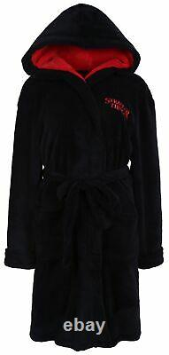 STRANGER THINGS black men's hooded bathrobe
