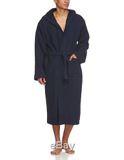 Schiesser Men'S Bathrobe Blue Blau Dunkelblau X-Large Brand Size 054