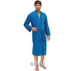 Schiesser Men's Bath Robe Dressing Gown 100% Bw SIZE M L XL XXL 3XL 4XL 5XL 6XL