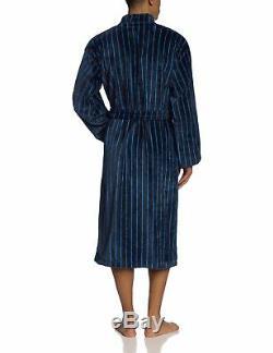 Schiesser Men's Bathrobe Blue Blau (Dunkelblau) Medium (Brand Size 050)