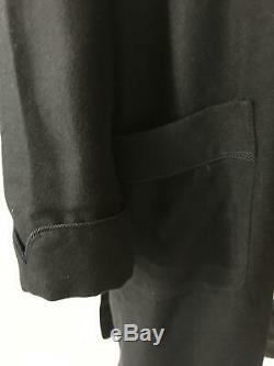 Sofia Mens Black cashmere silk robe lounge bath M Neiman Marcus