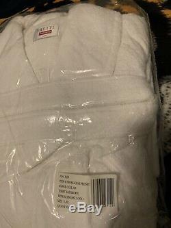 Supreme x Frette Terry Bathrobe L/XL White SS15 DS NIB
