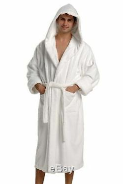 THIRSTY Original Towels Hooded Luxury Turkish Cotton Bath Robe for Men and Wo