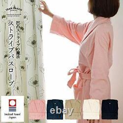 TRANPARAN Imabari towel certification bathrobe stripe lightweight fast-drying Ma