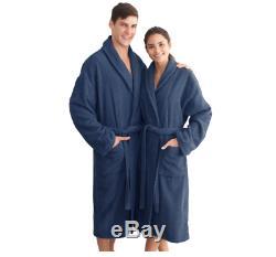 Terry Bathrobe for Women Men Size Small/Medium Blue 100% Turkish Cotton Spa New