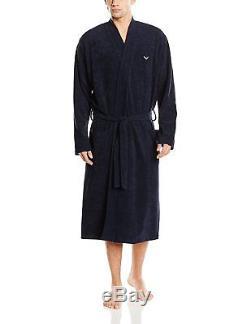 Trigema Men's Bathrobe Blue Blau Navy 046 XXX-Large