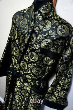 True Vintage Silk Dragon Vtg Chinese Smoking Robe Retro Bathrobe NWOT o94