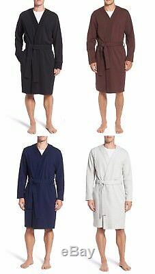 UGG Men's Samuel Stretch Cotton Robe Robe Bathrobe Black Blue Grey Port NEW