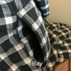 UGG Mens Kalib Plaid Wrap Bath Robe Black Multi Size M/L Medium Large 1019339
