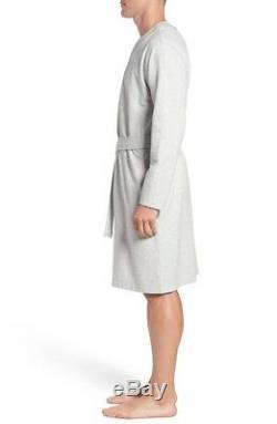 UGG brand Men 1014995 SAMUEL Bathrobe Sleepwear Soft Long Robe Seal Heather