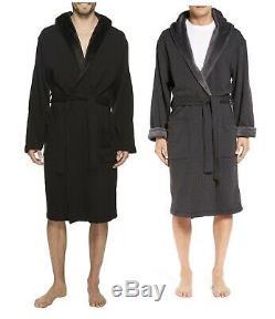 UGG brand Men UA4099M BRUNSWICK Bathrobe Lounge Wear Black Fleece Soft Robe