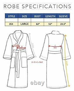 Unisex Terry Bathrobe 100% Lux Combed Cotton Robes, Five-Star Large Hooded