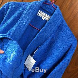 Unused Authentic Yves Saint Laurent Vintage YSL Bathrobe Blue Size L New
