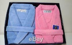 Unused Authentic Yves Saint Laurent Vintage YSL Bathrobe Set Blue Pink New