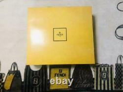 Unused Fendi F Zucca Monogram Bathrobe Beige Gray