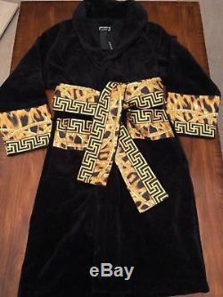 VERSACE Lamyland Printed Cotton Bath Robe Size XL