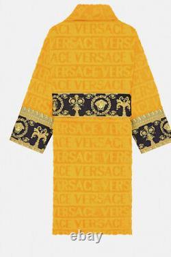 VERSACE Orange Baroque Bathrobe size XXL