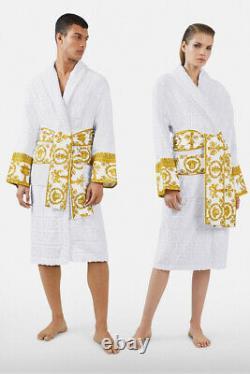 VERSACE White Baroque Bathrobe size XL