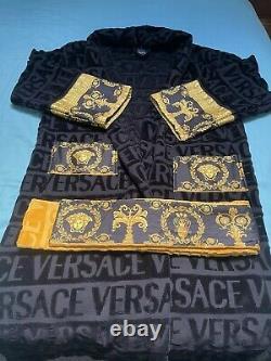 Versace Barocco Bath Robe Bathrobe Towel Baroque Gown Medium M- 100% Authentic
