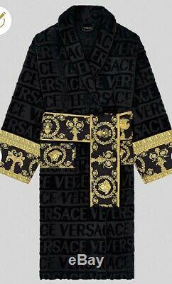 Versace Barocco Bath Robe Bathrobe Towel Baroque Gown Nightgown Large L
