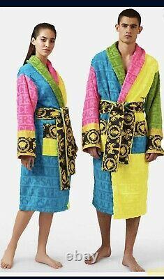 Versace Barocco trim bathrobe In Box