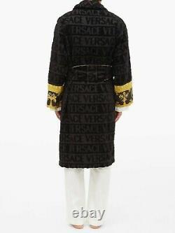 Versace Baroque Bathrobe Black BNWT L