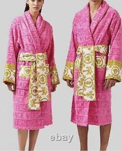 Versace Baroque Bathrobe Pink M