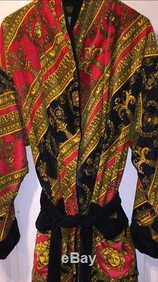 Versace Baroque Medusa Mens Bathrobe Large Retro 11 Jordan BRED Yeezy 350 Robe
