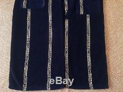 Versace Bathrobe Mens Size M Dark Blue Authentic