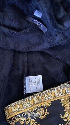 Versace Black and Gold Baroque Bathrobe M