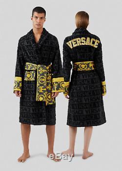 Versace Embroidered Logo Baroque Bathrobe Medium RRP £715