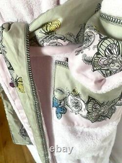 Versace Le Jardin Bathrobe Towel Dressing Gown Home Collection Boxed Size 8-14