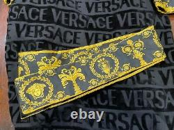 Versace Men's I Heart Baroque Bathrobe Black Large PERSONALIZED SEE IMAGES