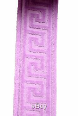 Versace Men's Light Purple Medusa Belted Hooded Bathrobe US XL IT 54