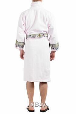Versace Men's Pink Belted Bathrobe US L IT 52