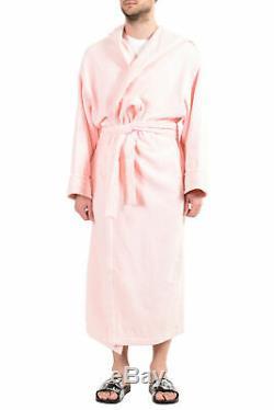 Versace Men's Rose Pink Medusa Belted Hooded Bathrobe US L IT 52
