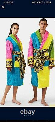 Versace Multicolored Baroque Bath Robe-XL