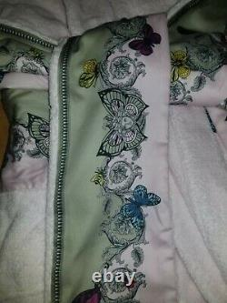 Versace Pink Le Jardin Embellished Bathrobe Size Large