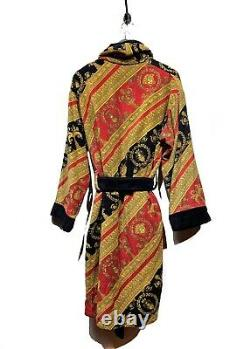 Versace Red Yellow Black Barocco Print Bathrobe