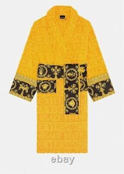 Versace Yellow Baroque Bathrobe Medium