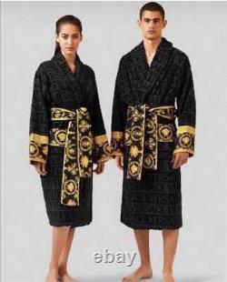 Versace bathrobe 100% cotton Robes comforter bathrobe bathing gown home black