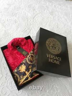 Versace bathrobe 100% cotton Robes comforter bathrobe bathing gown home fit red
