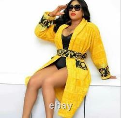 Versace bathrobe 100% cotton Robes comforter bathrobe bathing gown home yellow